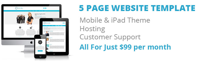 website packages for small business from $99 pm
